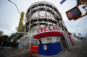 "New York's historical roller coaster ""The Cyclone"" on Coney Island in Coney Island.  (Photo: EMMANUEL DUNAND/AFP/Getty Images)"